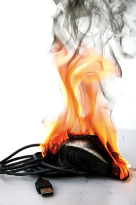 Burning Mouse